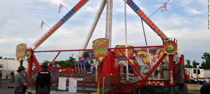 Deadly accident at Ohio State Fair caused by corrosion, says ride maker